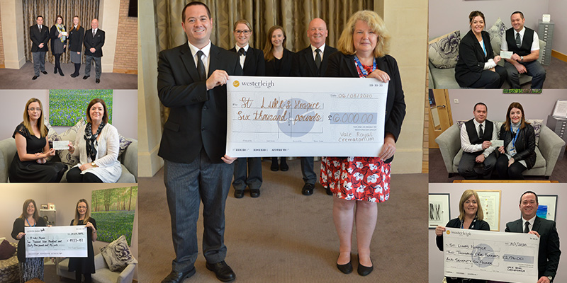 Vale Royal Crematorium celebrates six-year anniversary with £6000 donation to local St. Luke's Hospice